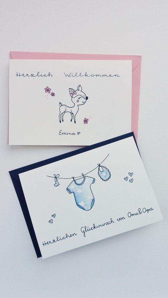 Babykarten personalisiert