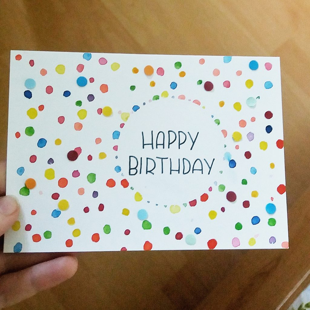 Geburtstagskarte Konfetti