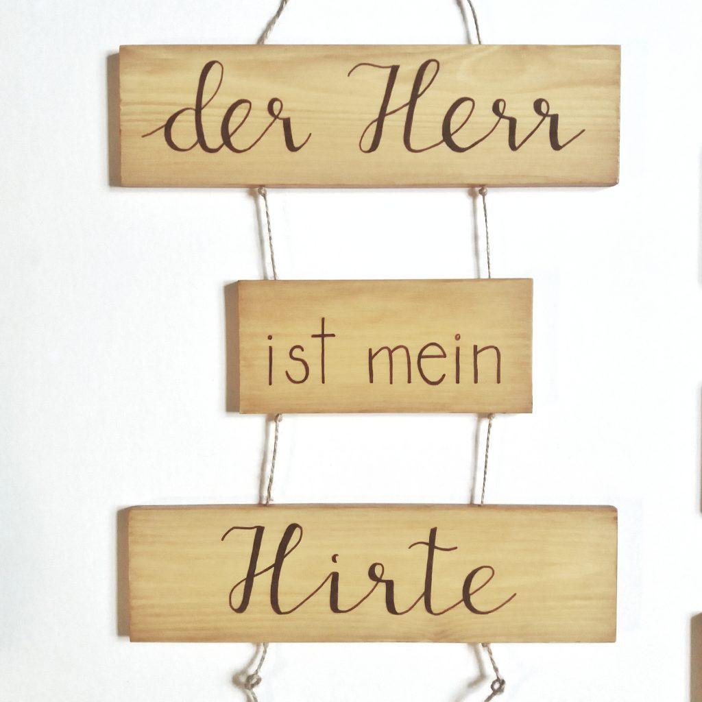 """Holzschild - """"Der Herr ist mein Hirte"""""""
