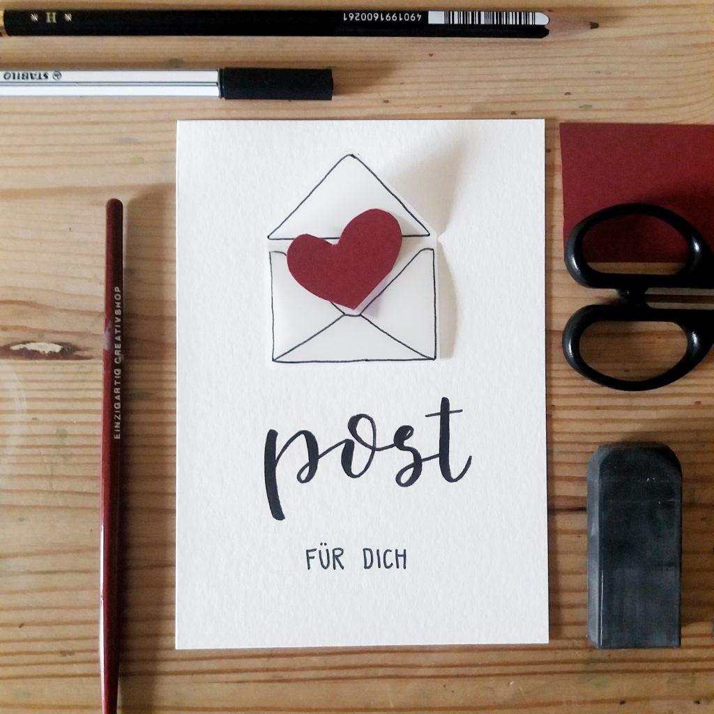 Grußkarte - Post für dich