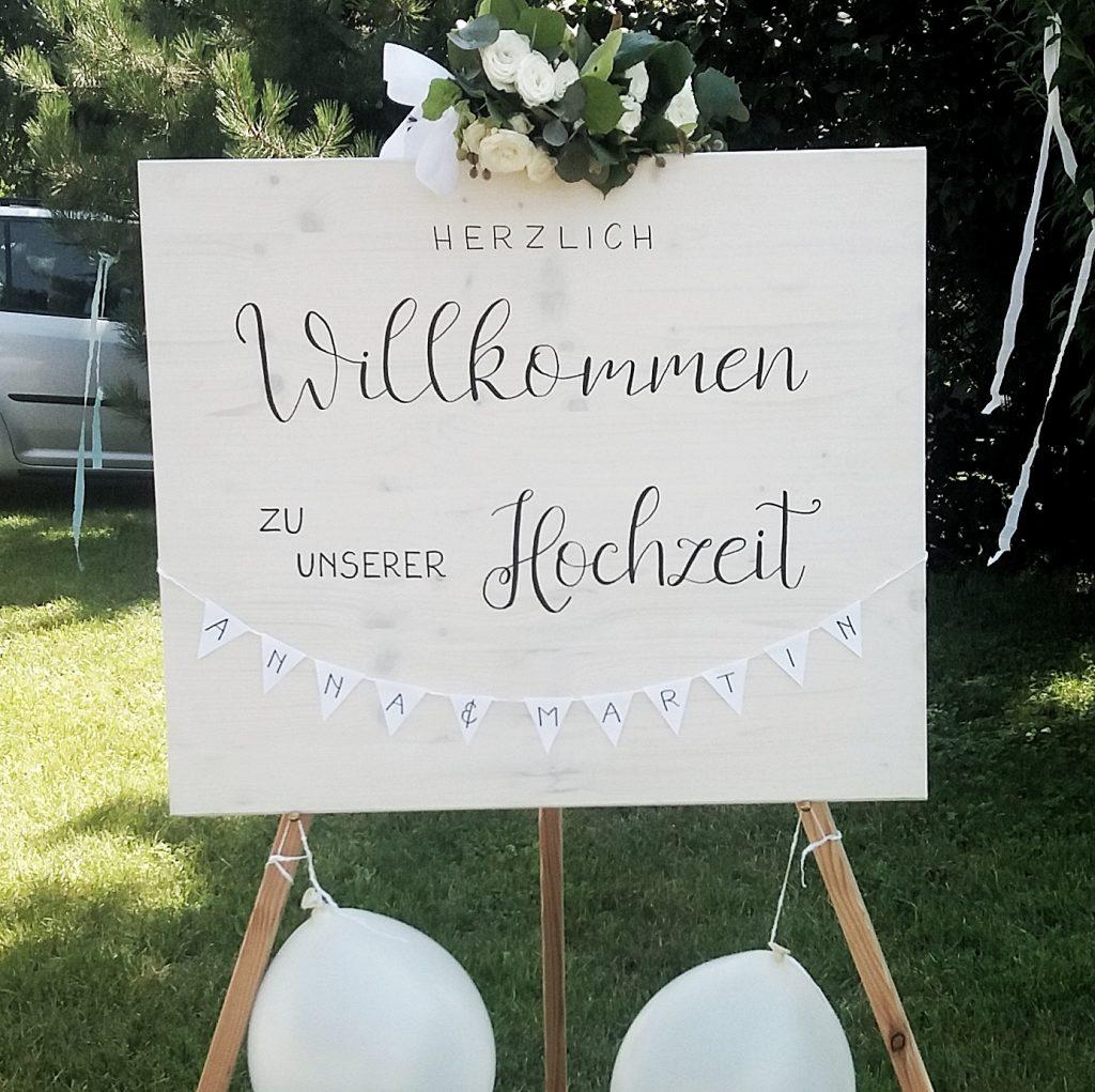 Hochzeit - Holzschild Dekoration