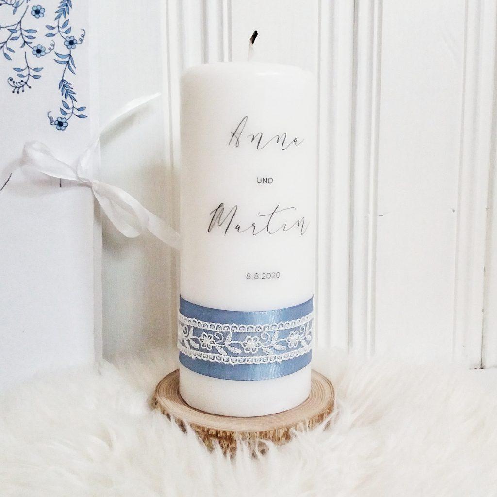 Hochzeitskerze blau