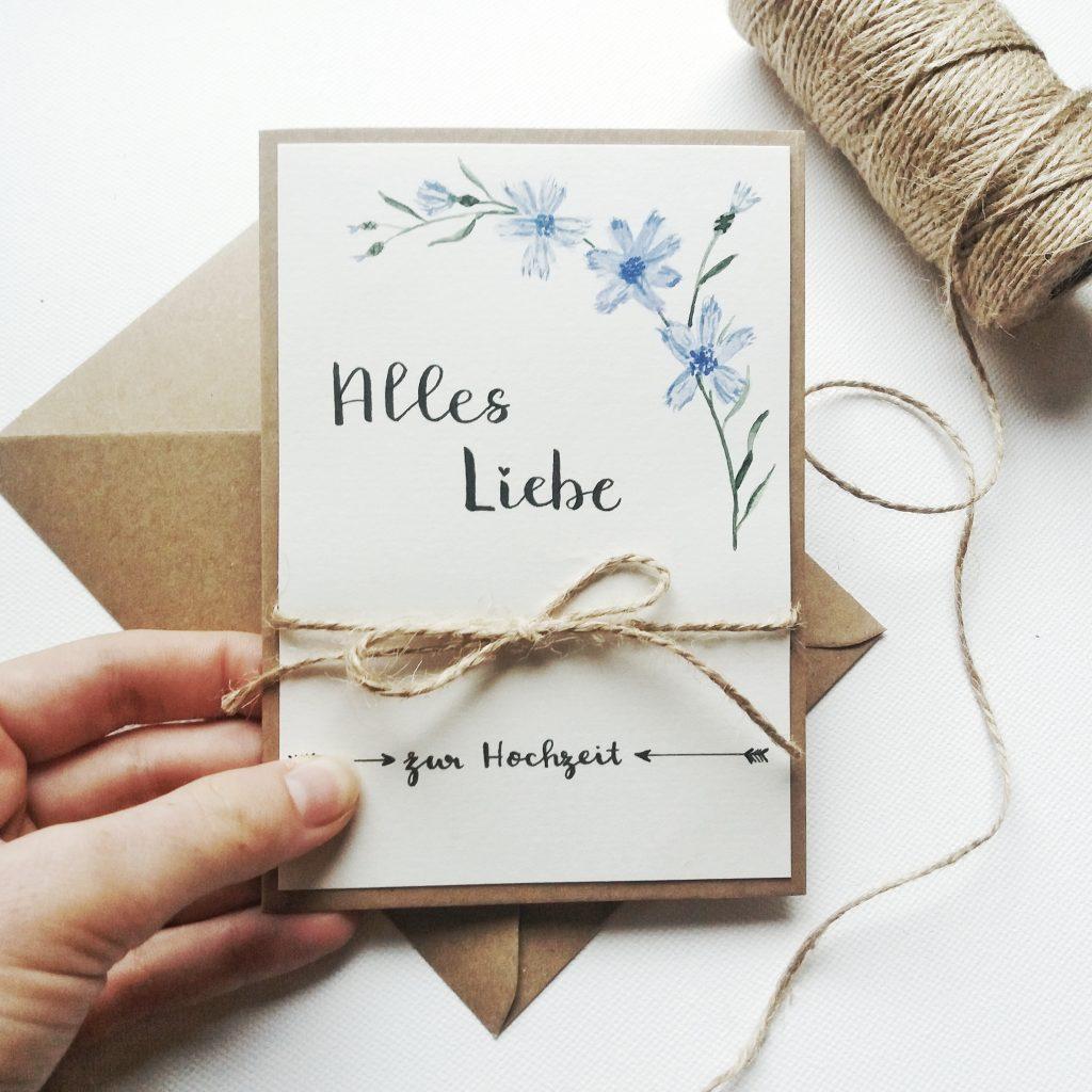 Hochzeitskarte - Alles Liebe
