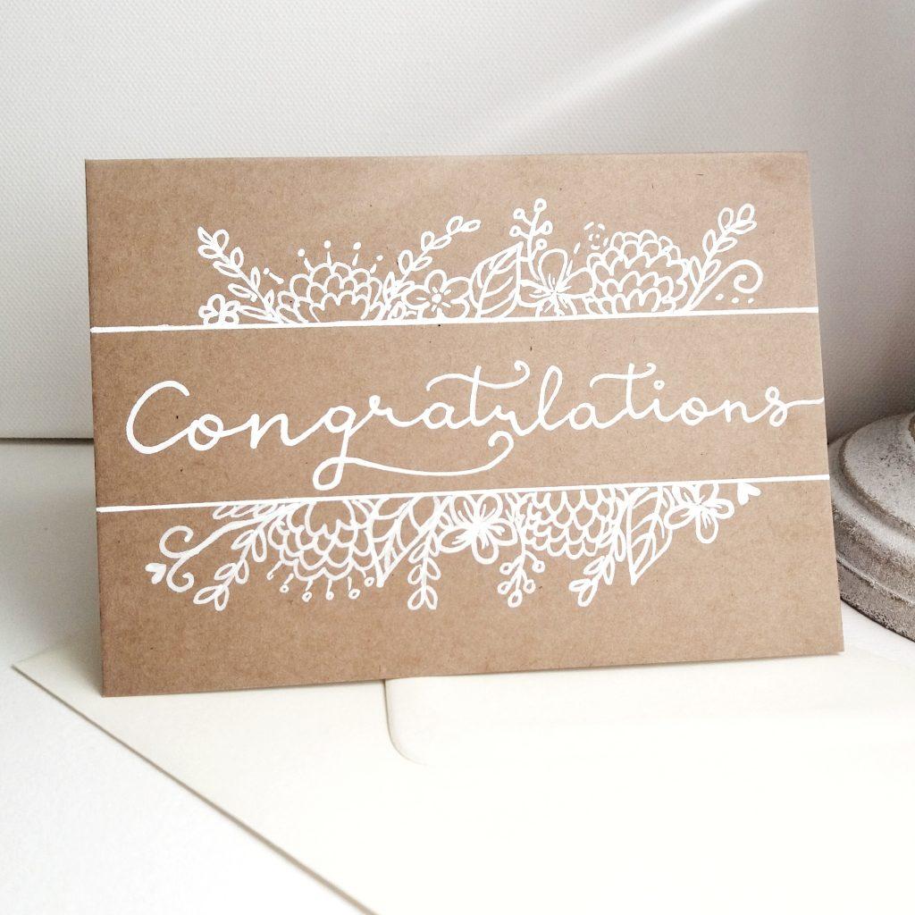 Geburtstagskarte personalisiert - Congratulations