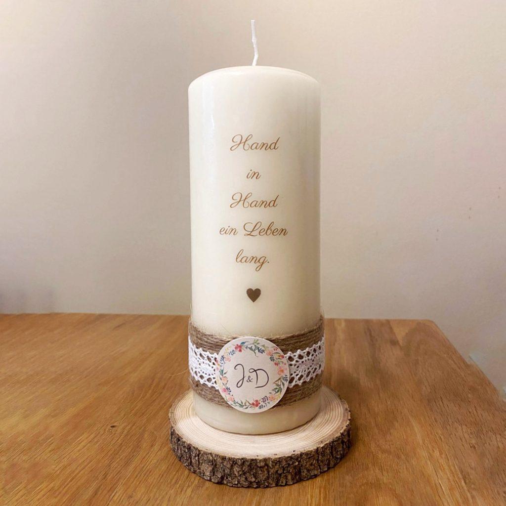 Hochzeit - Kerze braun