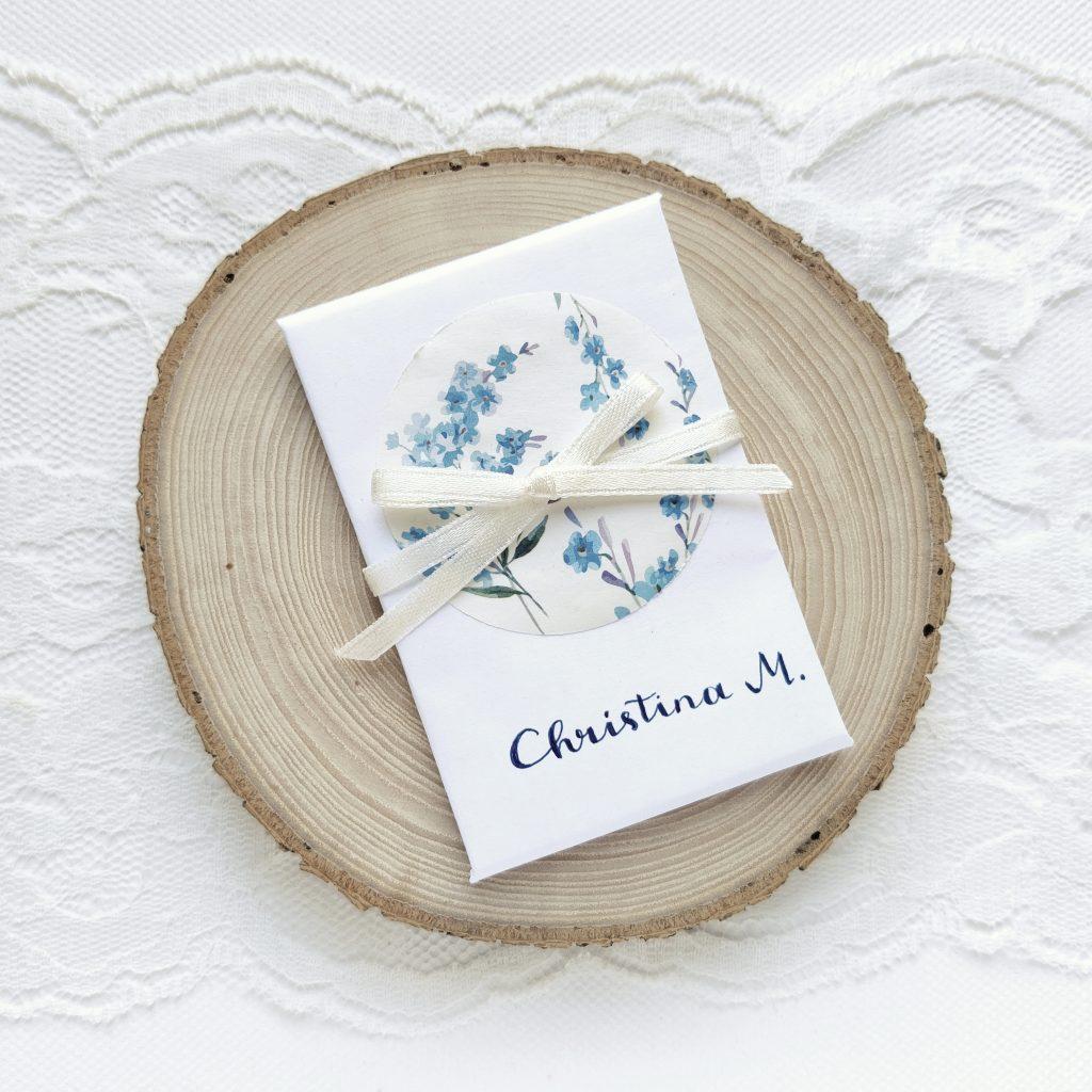 Hochzeit - Namenskärtchen personalisiert